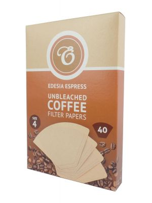 40 Size 4 Coffee Filter Paper Cones - brown