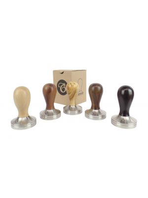 49mm Coffee Espresso Tamper – Choice of Hardwood Handles, Flat Stainless Steel Base