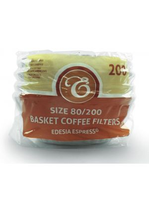 Size 80/200mm (2 Pint) Basket Coffee Filter Papers White