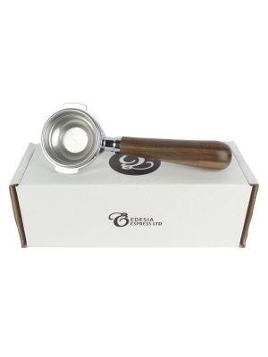 FRACINO Portafilter - 1 Spout, 7g Basket - Walnut Handle