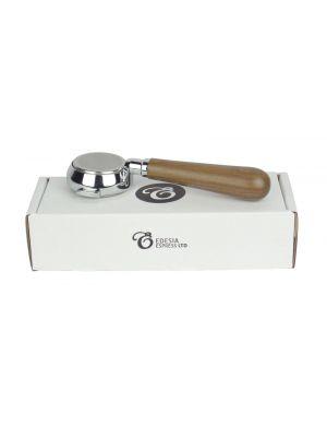 BRUGNETTI Bottomless Naked Portafilter Espresso Handle - Triple Shot 21g Basket - Walnut Handle