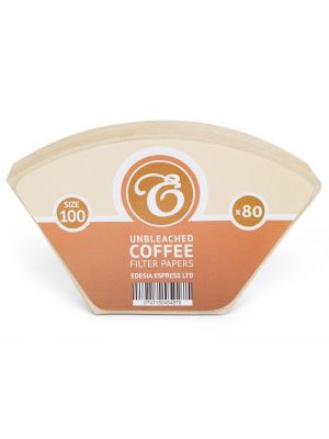 80 Size 100 Unbleached Coffee Filter Paper Cones for Melitta Aromaboy