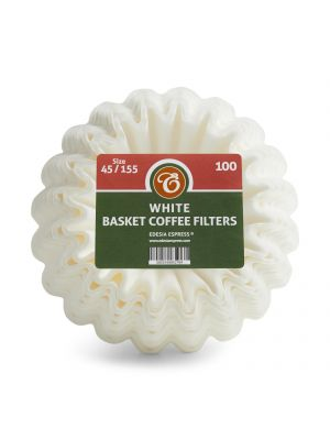 Size 45/155mm Basket Coffee Filter Papers White – compatible with Kalita Wave KWF-155