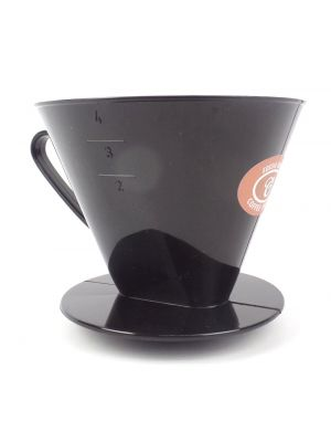 Size 4 Plastic Coffee Filter Cone with Flat Base
