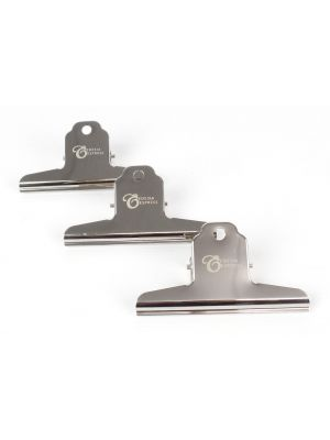 3 x Strong Steel Coffee Bag Clips, 100mm wide - sealing, securing