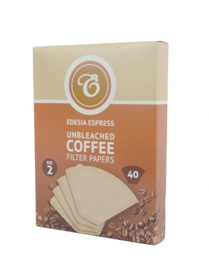 40 Size 2 Coffee Filter Paper Cones - brown