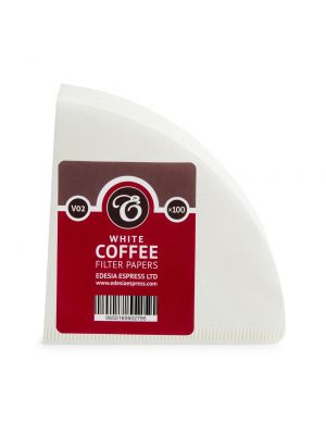 Size V02 white coffee filter papers, compatible with Hario V60 size 02