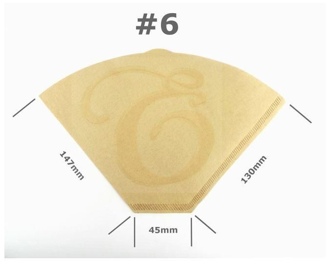 Size 6 Coffee Filter Paper Cones Unbleached