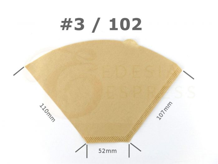 Size 3 Coffee Filter Paper Cones Unbleached